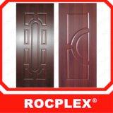 Кожа Малайзия Rocplex двери HDF, деревянная кожа двери Veneer