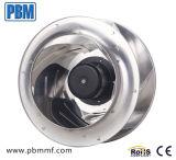 motor van de Rotor van de EG van het Wiel van het Aluminium van 355mm 230V neigde Brushless Externe achteruit CentrifugaalVentilator