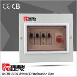 Copper Busbar를 가진 플러그 접속식 Type Single Phase 4 Way Metal Distribution Box