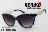 Óculos de moda do Olho de Gato com padrão de Metal Templo esculpidas Kp70264