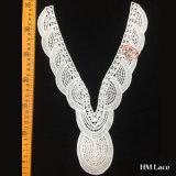 хлопок вязания крючком типа тканиь уникально картины 20*32cm африканский или шнурок ворота ви-образност полиэфира изготовленный на заказ для платьев Hml8509 женщин