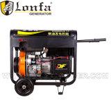 3kw luchtgekoeld met Diesel van het Handvat en van het Type van Wielen Open Generator
