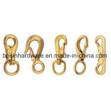 革クラフトのための固体黄銅のスナップのホック