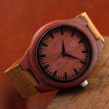 Reloj de madera del OEM del reloj del movimiento de Japón del reloj para los hombres