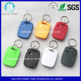 IDENTIFICATION RF imperméable à l'eau Keyfob avec des aperçus gratuits de puce de T5577/F08/Ultralight EV1/Ntag213