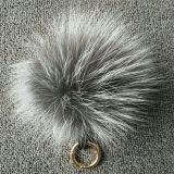 Красивейшие шарики шерсти POM Keychain пушистые покрасили Pompom шерсти Fox