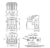USB 2.0 Af de Schakelaar van het Type USB van ONDERDOMPELING van 90 Graad