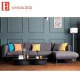Muebles determinados del estilo del sofá de cuero moderno real de Dubai con el marco del metal