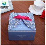 Коробка изготовленный на заказ подарка Новый Год упаковывая складывая с тесемкой и шнурком