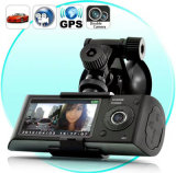 Trayectoria Wide-Angle Dual-Lens GPS HD DVR Grabador de conducción de coches