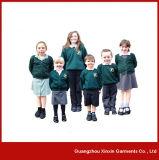 Chandail bon marché personnalisé d'élève de Grils de garçons de chandail d'école pour l'usure d'école (U09)
