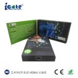 Venta caliente Custom 2.4 pulgadas LCD Folleto Vídeo/ tarjeta de vídeo para publicidad