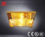 Moderner Entwurfs-Luxuxdecken-Lampe mit dem Glas gekleidet