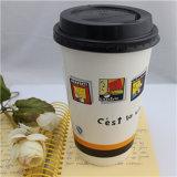 Ecológica desechables biodegradables abastecido de café desechables de doble pared de vasos de papel