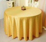 면 큰 훅 꽃 상보 폴리에스테 면 테이블 피복을 식사하는 둥근 장방형 결혼식