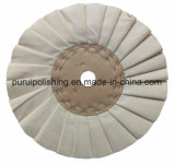 Roda de lustro lustrando plissada do algodão da via aérea (com centro de Carboard) para o metal