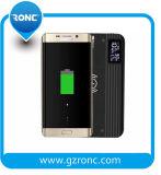 Banco de alimentação do telefone móvel sem fio Carregador com tecnologia de Qi