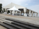 屋外の結婚披露宴のイベント展覧会のテント