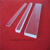 Le traitement de polissage du verre de quartz fondu Conseil transparent avec rainure