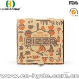 Haal 9 de Duim Afgedrukte Bruine Doos van de Pizza voor Hete Pizza weg