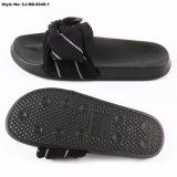 As mulheres exterior casual PU Slide Sandals Senhoras Desliza Flats Chinelos