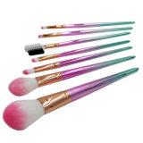 kit cosmetici della spazzola del sopracciglio dell'ombretto di profilo della polvere del fondamento dell'insieme di spazzola di trucco di colore di pendenza di fantasia 7PCS