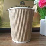 Оптовые горячие бумажные кофейные чашки с крышками, изготовленный на заказ напечатанным логосом, бумажным стаканчиком напитка чая