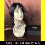 Non adattare spargimento, nessuna parrucca piena poco costosa del merletto delle parrucche diritte di alta qualità di groviglio con i capelli del bambino per le donne di colore