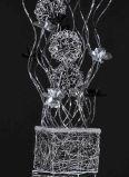 [لد] [فلوور لمب] في ألومنيوم سلك تصميم