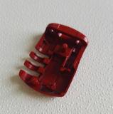Pieza de aluminio del bloqueo con la pintura roja