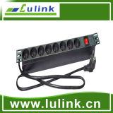 6 puertos aislante universal de la PDU protectores del sistema de distribución de energía