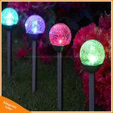 Änderndes Glassolarrasen-Licht für im Freiengarten dekorativ färben
