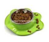 Cuvettes de l'eau d'aliment pour animaux familiers de forme de face de chat pour de petits animaux familiers