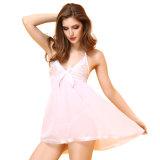 Prix bon marché confortable blanc dame sexy de la Chine usine de vêtements de nuit