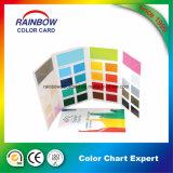 La qualité a personnalisé la carte pliée de couleur de peinture d'impression