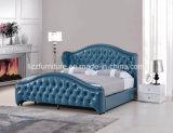 أستراليا أنيق أثاث لازم غرفة نوم جلد سرير ليّنة