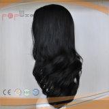 Ondulado suelto el cabello humano completo peluca judío (PPG-L-01810)