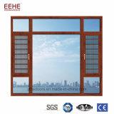Хозяйственное алюминиевое доказательство воздуха Windows Casement с незримой сетью москита