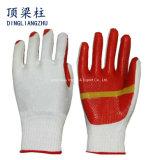 La doublure de coton a feuilleté les gants enduits en caoutchouc pour le travail de sûreté