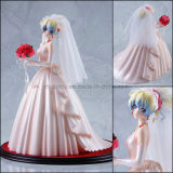 Figura di modello di plastica della ragazza dolce del vestito da cerimonia nuziale