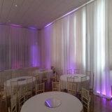 Verwendetes bewegliches Stadiums-Hintergrund-Rohr und drapieren für Hochzeits-Dekoration