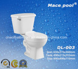 Siphonic 내뿜는 방법 (DL-003)를 가진 위생 상품 2 조각 화장실