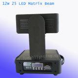 25X12W Stade matrice de LED DMX le déplacement du faisceau de feu de tête