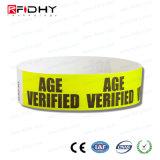 Adhesivo fuerte Tyvek Pulsera RFID para la gestión de actividades