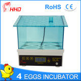 Incubator 4 Eieren yz9-4 van het Ei van Hhd 2017 Nieuwste Automatische