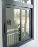 prix d'usine double fenêtres coulissantes en aluminium avec écran mouche
