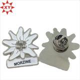 Nach Maß MetallreversPin mit Blumen-Firmenzeichen