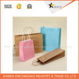 Progettare il sacco di carta per il cliente di colore completo di prezzi di fabbrica con la maniglia