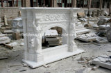 Mensola del camino di marmo bianca del camino in azione (SY-MFP604)