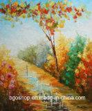Het hoge Glanzende eco-Oplosbare Katoenen Canvas van de Olie (300g)